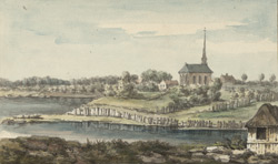 View of Deschambault, on the River St. Laurence, above Quebec